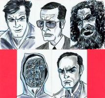 BIONIC MAN sketch cards by javierhernandez