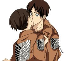 Eren and Levi~ by CrazyWolfka