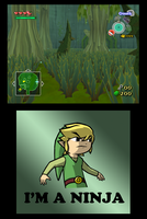 The Wind Waker Ninja. XD by swordxdolphin