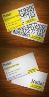 Alphabet Business Card by KaixerGroup