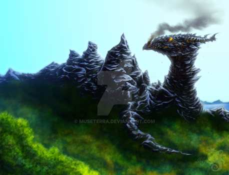 Mountain dragon by MuseTerra