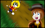 Collab: Hey Indy! Can I come too? by KittyJoy