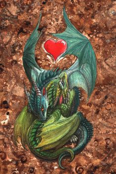 Dragon hatchling hug by Sunima