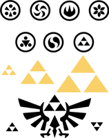 Sage Symbols and the Triforce by SnowBunnyStudios