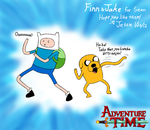 'Buncha Dirty Ninjas!' Finn+Jake GiftArt by Gemkio