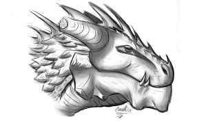 Dragon head #... Idk by ArtistFeline