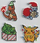 Christmas Pokemon - Cross Stitch by xxEmofoxdemonxx