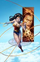 Wonder Woman Cheetah Color Print by tonyperna