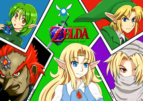 Zelda Collab With Belcpo by CrimsonSpectreFox