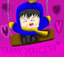 A thank you to CISH: Chibi Craig on a swingset by Hallerpl
