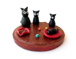 Cats Family Miniature by DeadLulu