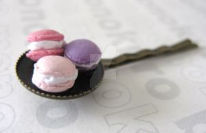 Macaron Hair Pin by SabrinaDeeBerry