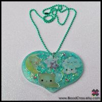 Sleepy Bears Resin Necklace by BloodCross