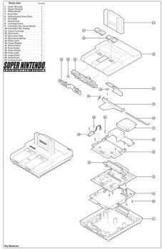 Super Nintendo Exploded View by PatRoberts