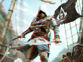The Black Flag 3-D conversion by MVRamsey