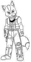 Fox McCloud SFA Sketch by ACdraw
