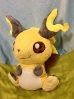 Jumbo Raichu Plush by Glacdeas