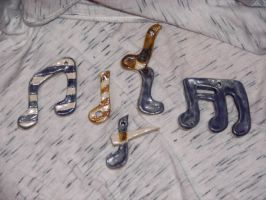 Clay Music Notes by MusicalEnvy