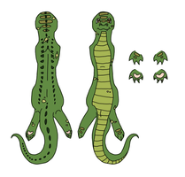 Crocodile Bookmark by XxPuppyProductionsxX