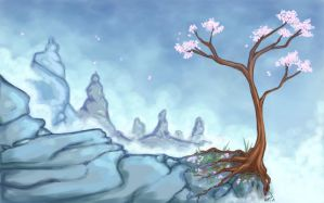 Cherry Blossom Mountain by Rooncakes