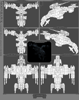Heavy Assault Ship - Moonhawk by MoonredStarblack