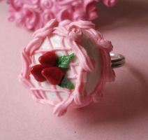 Pink Strawberry Cake Ring by FatallyFeminine