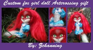 Artcrossing Gift #2: Fox Girl Doll Custom!! by Zchanning