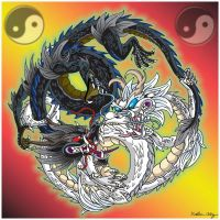 Yin Yang Dragons by Tibby101