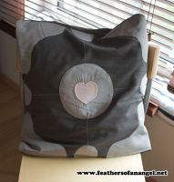 Companion Cube Pillow 1 by FeathersOfAnAngel