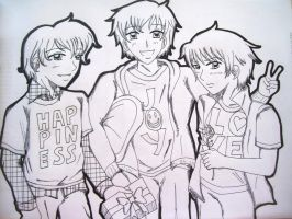 APHOC's: Delivery Boys Lineart by kahochanlenkunlovers