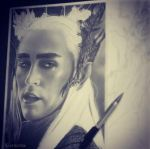 King Thranduil Lee Pace  wip by NLevaschuk