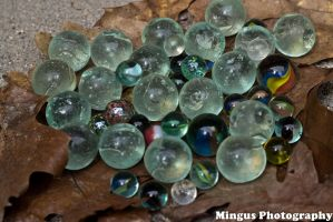 Marbles, Leaves, Concrete by justarus