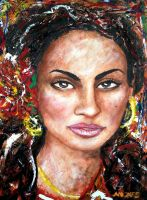 Singer Goapele by amoxes