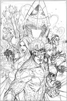 Uncanny X-Men 505 Cover Pencil by TerryDodson
