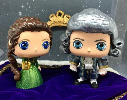 Outlander Custom Pops Claire And Comte St Germain by tool8smart