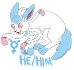 He/him sylveon by Awkwardly-Handsome