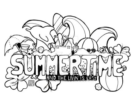 Summertime - Coloring Page by DesignedByLaura