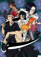 Bleach the old times collab by superjacqui