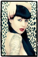 Leopard print pinup by lucylle