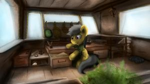 Mid-flight Study by FuzzyFox11
