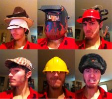 TF2: Hats o' plenty by busted-pc
