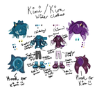 Kirana and Kimberley Winter Outfit Designs :3 by HedgeCatDragonix