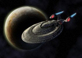 USS EXCELSIOR NCC-2000-C by Scarecrovv