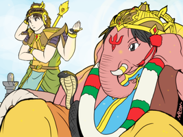 Ganesha and Murugan - Relax time by VachalenXEON