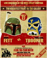 Boba Fett vs. Tormenta Trooper by itpro15