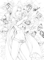 Emma Frost and X-Men by fernandomerlo