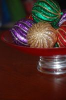 Sparkly Christmas ornaments by katiezstock