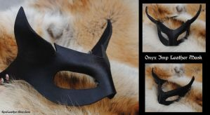 Onyx Imp Leather Mask by Epic-Leather