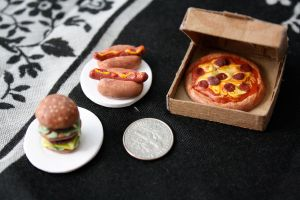 miniature american food by star--crossed