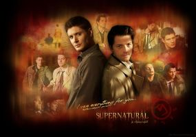SPN - I gave everything for you... (Wallpaper) by lilyanjudyth